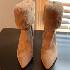 Brand New Sam Edelman Suede Short Boots with Fur
